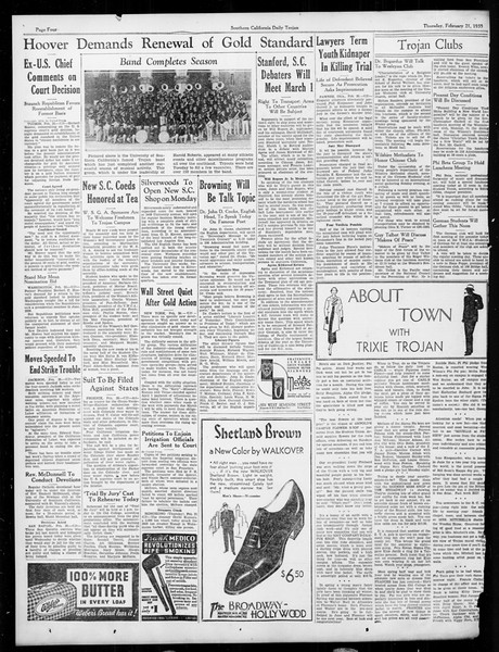 Daily Trojan, Vol. 26, No. 81, February 21, 1935