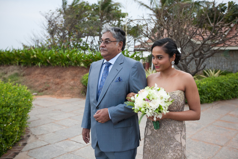 The blessing of Anisha and Sushant was held at Taj Fishermans Cove on Saturday, December 20, 2014.  The Mehendi was held at the brides home in T. Nager on Sunday, December 21, 2014. The wedding was held at The Leela Palace on Monday, December 22, 2014. Photography by Shannon Zirkle