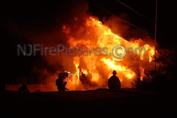 Roxbury, NJ 94 Dell Ave May 2, 2008 Fully Involved Structure Fire