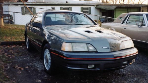 1987 Ford Thunderbird Turbo Coupe .  .  .