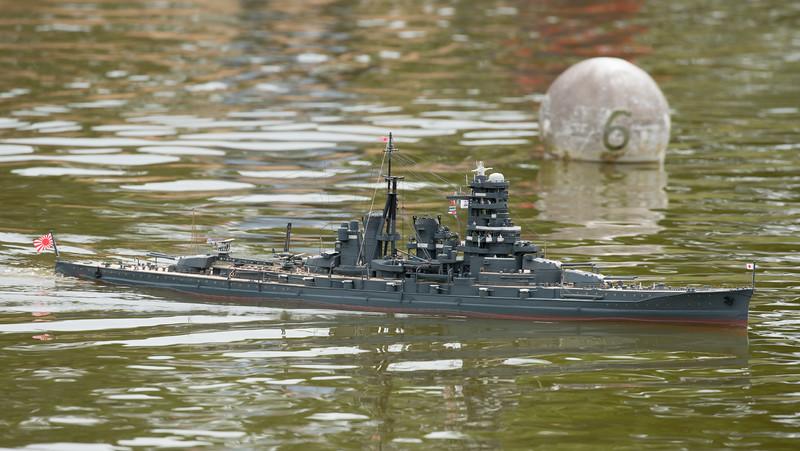IJN Kirishima, Japanese Battleship, Navy Day 2017, SRCMBC, Setley Pond, Solent Radio Control Model Boat Club, Thanasis Kanias, WWII