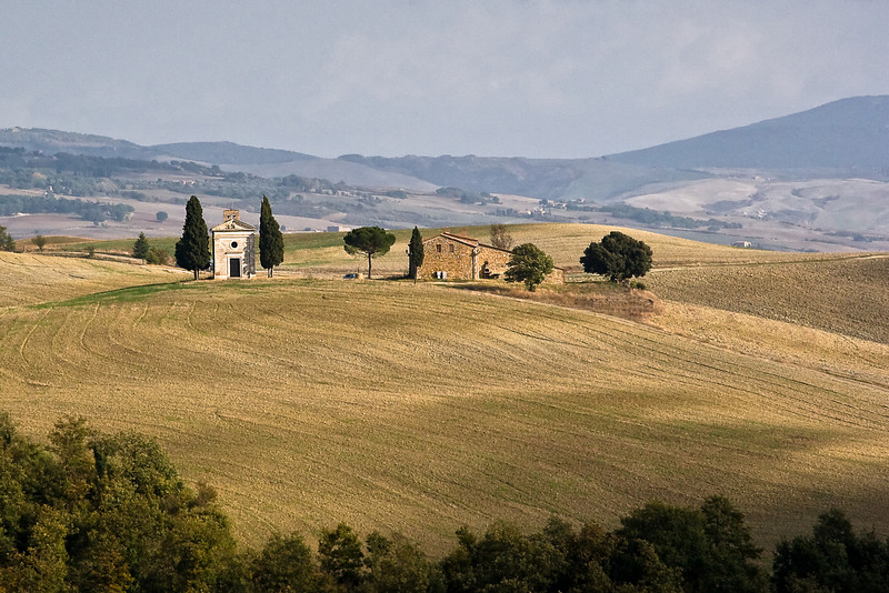 Tuscan countryside just outside of Pienza