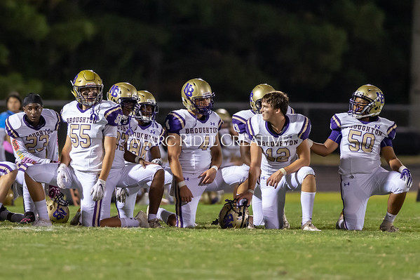 Broughton Varsity football at Southeast Raleigh. October 4, 2019. D4S_4891