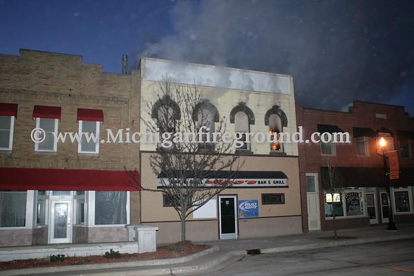 3/26/11 - Leslie commercial building fire, 147 S. Main