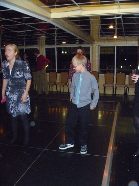 Jack Akard dancing on the final closing dinner.