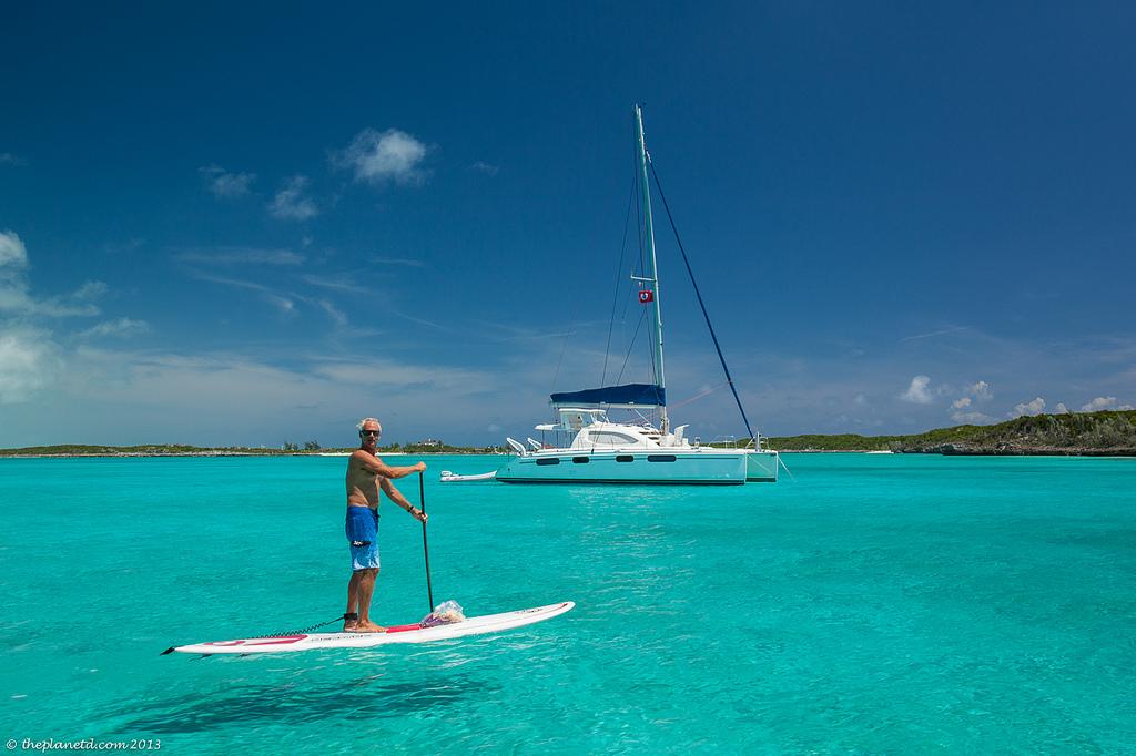 paddle boarding exuma cays