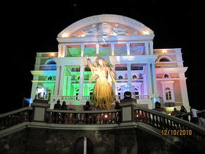 Christmas at Teatro Amazonas in Manaus, Brazil. (900 miles up the Amazon) 2010-12-10