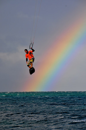9. Kitesurfing