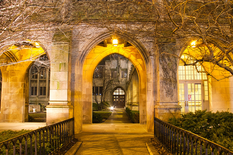 Gothic Arch at Night
