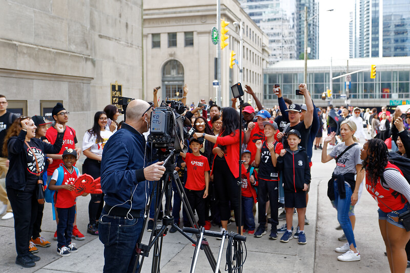 CP24 giving fans their 10 seconds of fame.