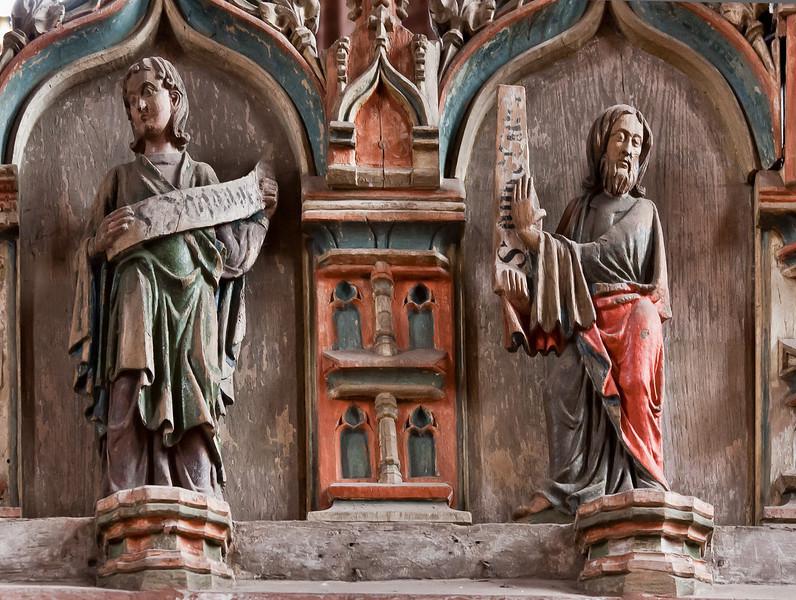 Stendal, Marienkirche, Figuren von der Chorschranke