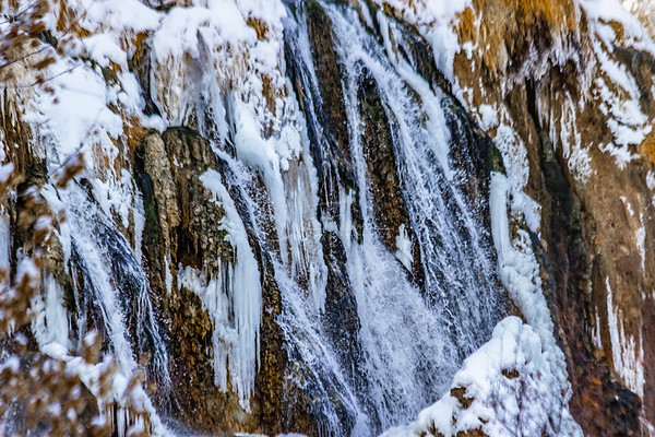 Fall Creek Falls in Swan Valley on the Snake River... Frozen