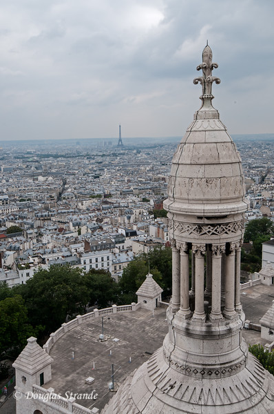 View from the dome of Sacre-Coeur (Doug climbed the 300-step circular stone stairs)