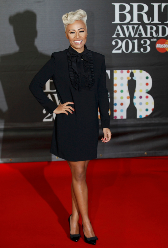 . Emeli Sande arrives for the BRIT Awards at the O2 Arena in London February 20, 2013.   REUTERS/Luke Macgregor
