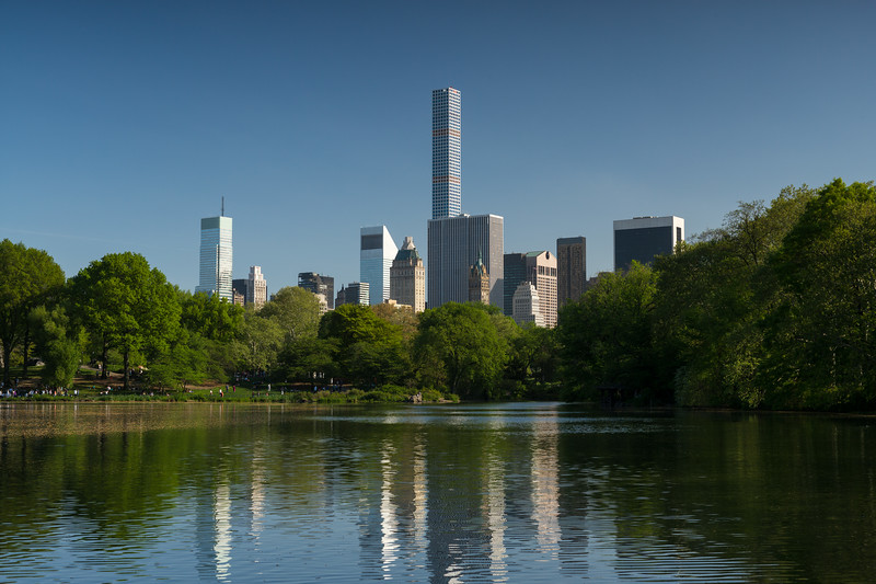 view across Central Park pond to 432 Park & other midtown bldgs.jpg