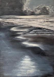 """Merger"" (acrylic on canvas) by Irina Ges"