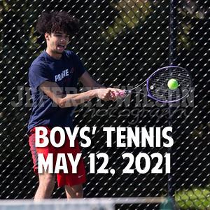 Prairie Boys Tennis 5-12-2021