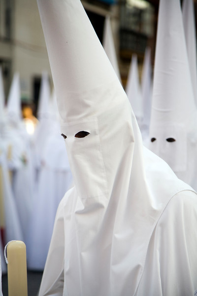 Hooded penitents, Palm Sunday, Seville, Spain