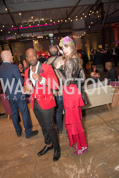 Eric Kimbuende, Kate Warren, The Phillips Collection, Annual Gala Afterparty, Contemporaries Bash, Union Market Dock 5. May 10, 2019, Photo by Ben Droz.
