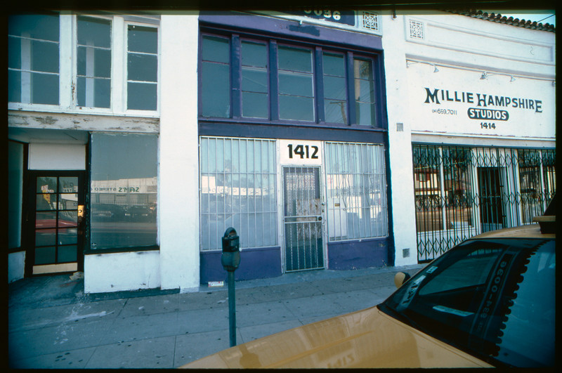 Industrial and commercial buildings at the intersection of West Pico Boulevard and South Redondo Boulevard from South Sycamore Avenue to Meadowbrook Avenue, Los Angeles, 2003