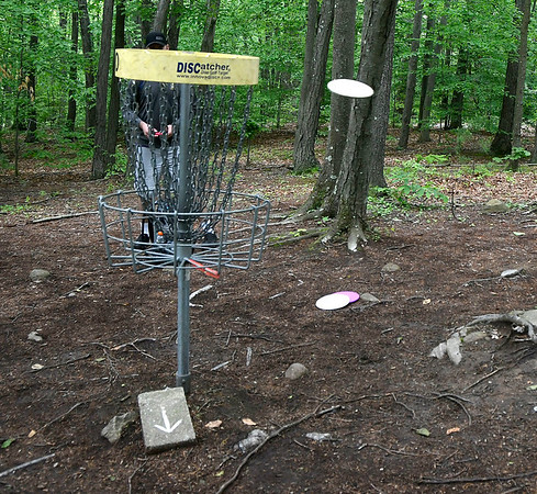 5/27/2017 Mike Orazzi | StaffrDisk golf in Page Park Saturday morning.