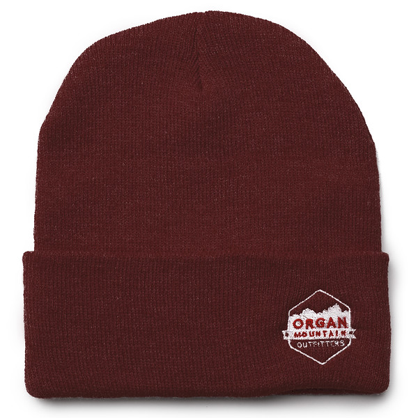 Outdoor Apparel - Organ Mountain Outfitters - Hat - 12 Inch Knit Beanie - Maroon.jpg