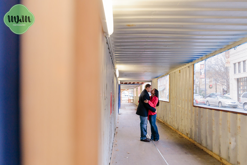 Cozy, Sweet, Downtown Raleigh Winter Engagement Photography - MKM Photography (24).jpg