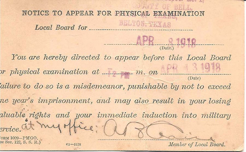 1918 - 4-8 Carl Duncan's War Dept. Health Notice 02.jpg