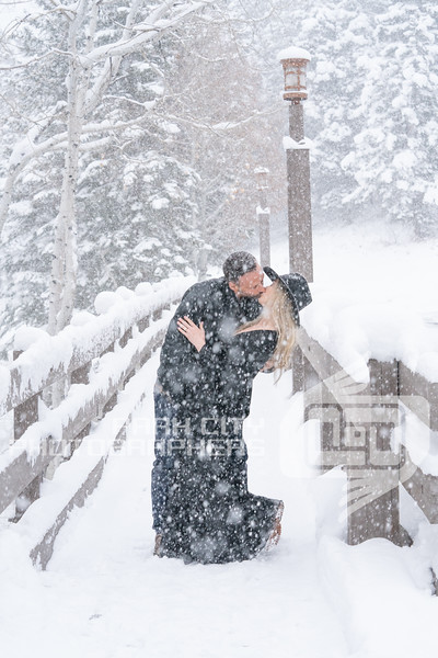 Snowy Deer Valley Couples Session
