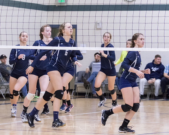 2017-10-30 Hillsdale Academy Girl's Varsity Volleyball vs. North Adams - Districts