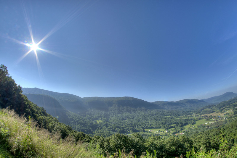 The view of the valley from the Powell Valley Overlook along Highway 23/Orby Cantrell Highway in Norton, VA on Friday, July 26, 2013. Copyright 2013 Jason Barnette