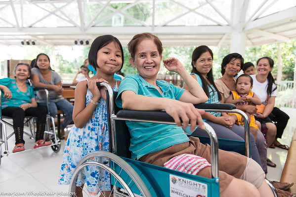 Mass and Wheelchair Distribution at Antipolo  Bishop Center