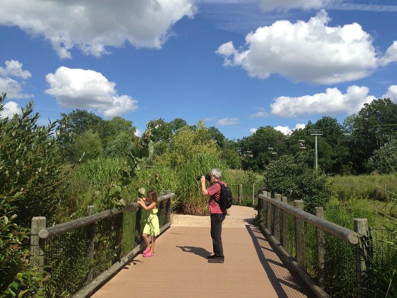 Zoo visitors.