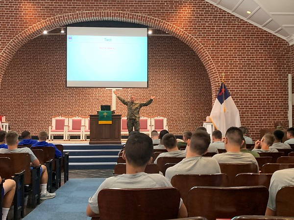 Cadet Leadership Training Class in Chapel