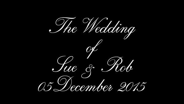 Sue & Rob wedding video