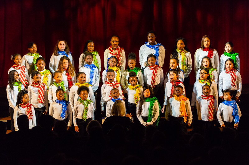 The Young Singers of the Palm Beaches Choir in the Glades perform at the Dolly Hand Cultural Arts Center at Palm Beach State College in Belle Glade on Sunday, December 2, 2018.  [JOSEPH FORZANO/palmbeachpost.com]