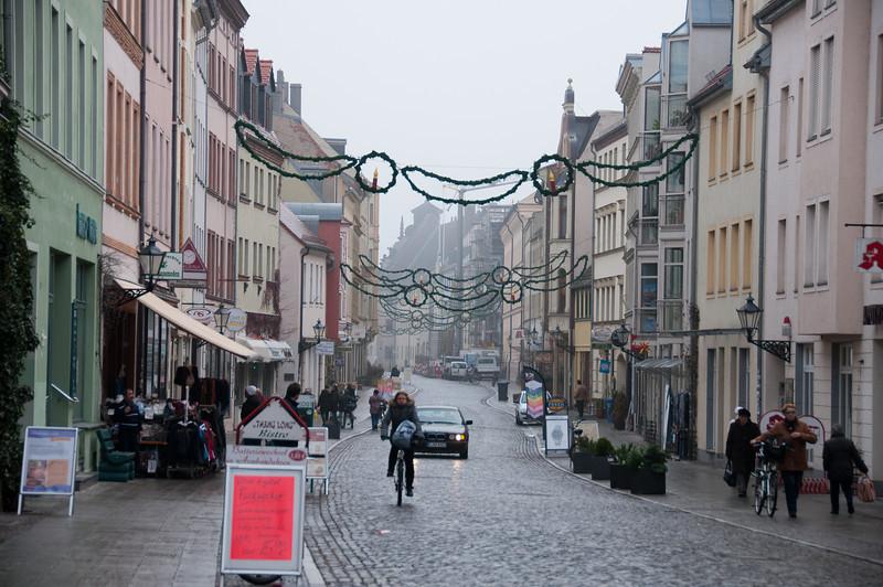 Street scene in Wittenberg, Germany