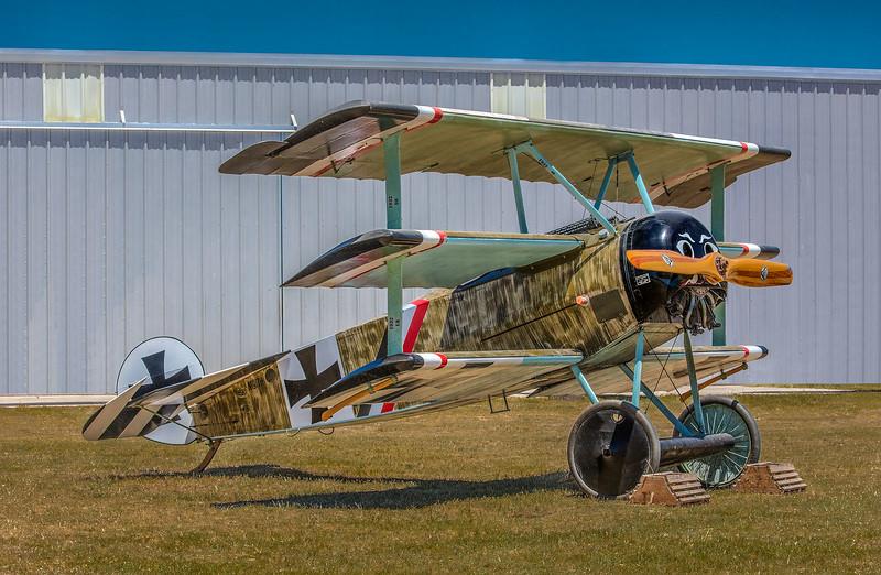Fokker Dr1 Triplane at Pioneer Flight Museum, Kingsbury TX.