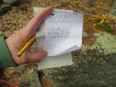 Retreat Cemetery Hill, Warner NH 01 Apr 2020