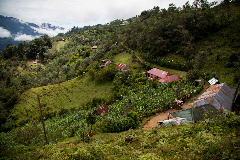 . A view of the community of San Jose Las Flores, in the northern Cuchumatanes mountains, Guatemala, Tuesday, July 1, 2014. In this small community Gilberto Francisco Ramos Juarez was born, a Guatemalan boy whose decomposed body was found in the Rio Grande Valley of South Texas. Gilberto Francisco\'s mother said Tuesday she begged him not set out on the dangerous journey from their modest cinder block- and sheet-metal home high in the northern Guatemalan mountains. (AP Photo/Luis Soto)