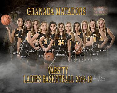GHS Ladies Varsity Basketball Team 2018-19