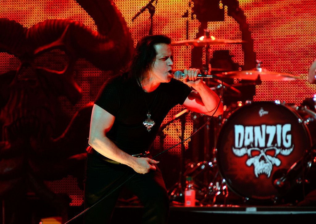 . August 30, 2013: Danzig<br /> <br />LOS ANGELES, CA - MAY 02:  Musician Danzig performs at the 5th Annual Revolver Golden Gods Award Show at Club Nokia on May 2, 2013 in Los Angeles, California.  (Photo by Frazer Harrison/Getty Images)