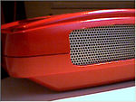 Side grill mesh with red now
