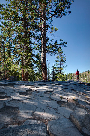 Devils Postpile photos were made using three exposures, then blended in Photomatix Pro