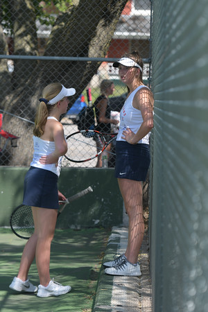 Girls Tennis at State meet Day One