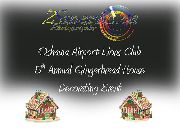 Oshawa Airport Lions Gingerbread House Decorating and Santa Pictures 2016