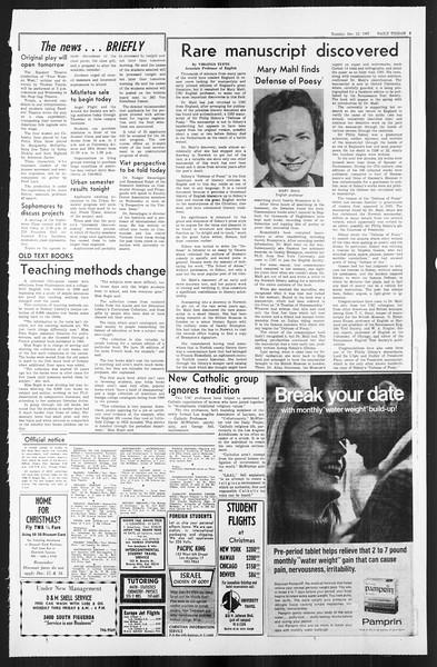 Daily Trojan, Vol. 59, No. 56, December 12, 1967