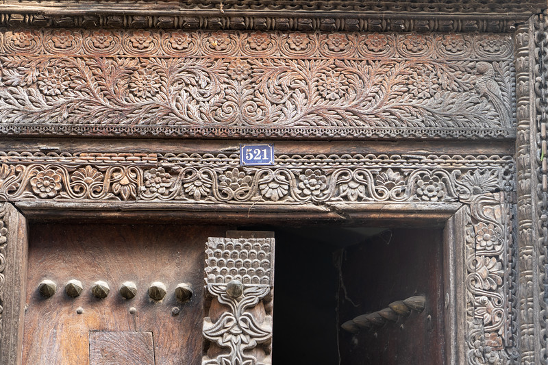 Carved door in Stone Town
