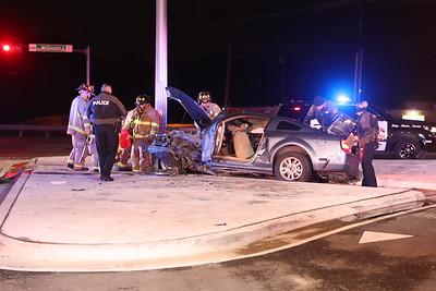 McKinney TX. Auto vs Light pole  Hwy.5 @ Old Mill 10/15/18