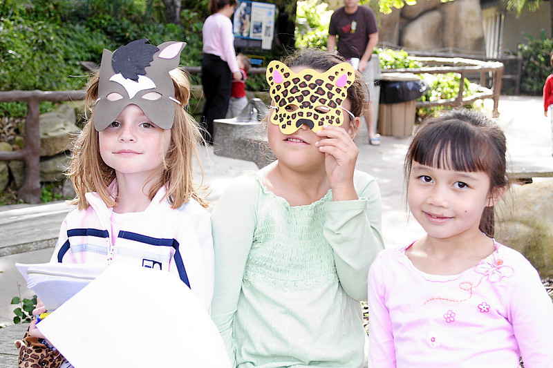 Sydney, Alanna and Sierra at Alanna and Jaison's birthday party at the Santa Barbara Zoo